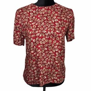 Norton Mc naughton floral blouse Sz 10P
